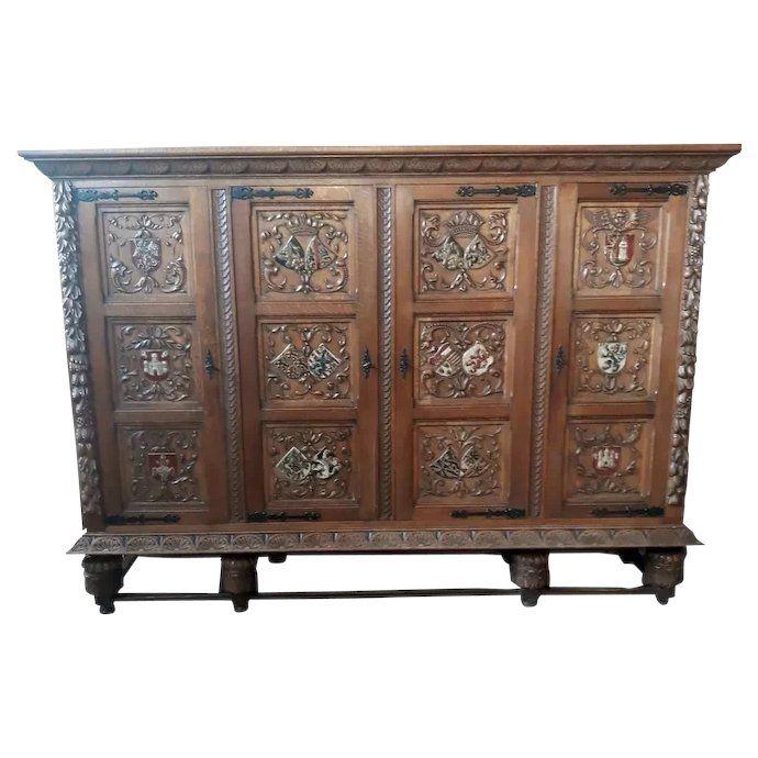 Original Finish 1920's Oak Sellers Kitchen Cabinet in 2020 ...