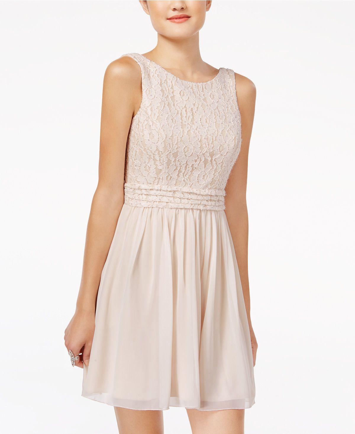 bbc0c238d83 Speechless Juniors  Glitter Lace Party Dress A Macy s Exclusive - Juniors  Dresses - Macy s