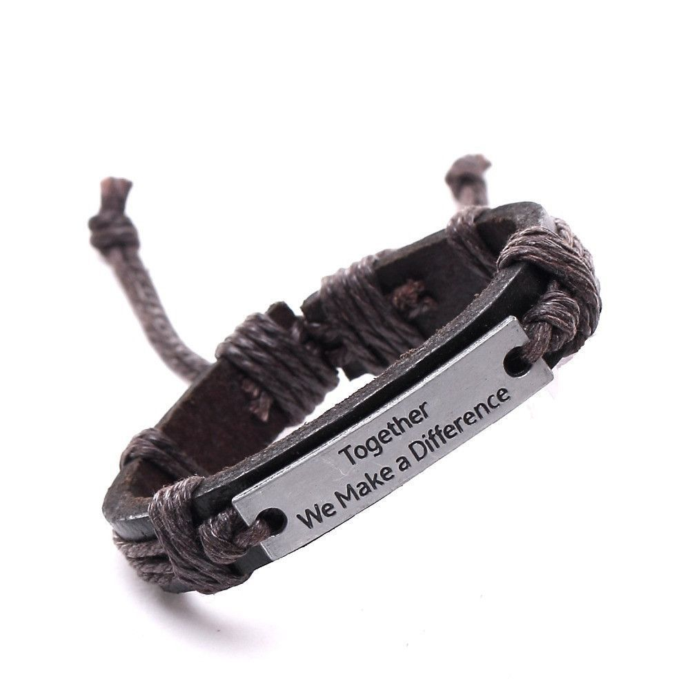 Vintage bracelets u bangles charm leather bracelets for women men