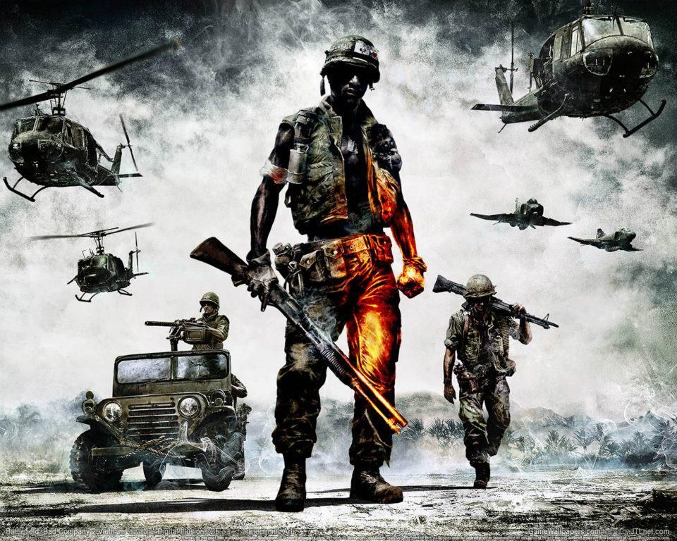 Cover Art For Bad Company 2 Vietnam Army Wallpaper Military Wallpaper Battlefield Bad Company