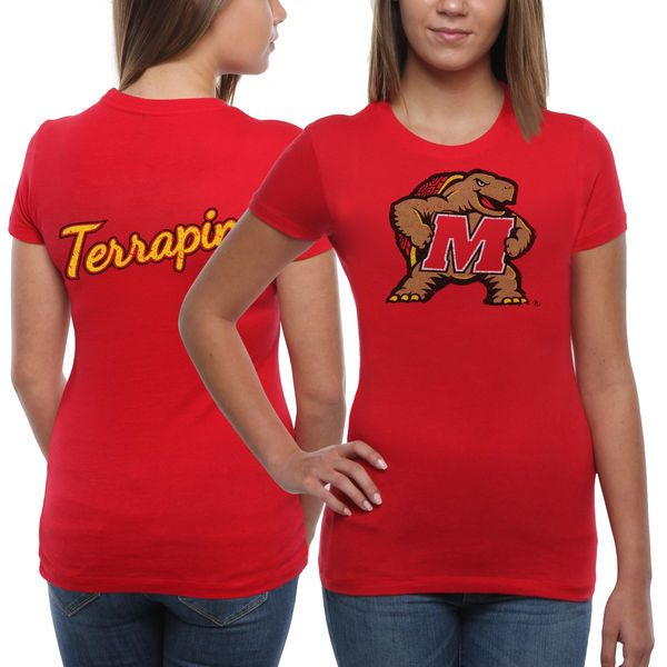 Maryland Terrapins Women's Encroachment Slim Fit T-Shirt - Red - $24.99
