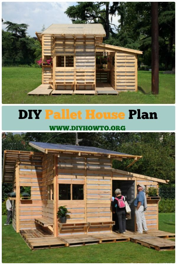This Diy Pallet House Can Be A Shelter For Emergency Or Backyard And Gardening What Make It So Brilliant Is Upcy Pallet House Pallet House Plans Pallet Diy