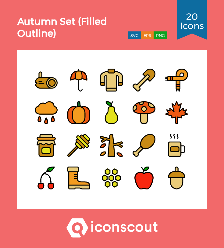 Download Autumn Set Icon Pack Available In Svg Png Eps Ai Icon Fonts Fall Sets Icon Pack Icon