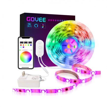 Govee Dreamcolor 16 4ft Bedroom Kitchen Led Strip Lights Led Strip Lighting Strip Lighting Smart Lighting
