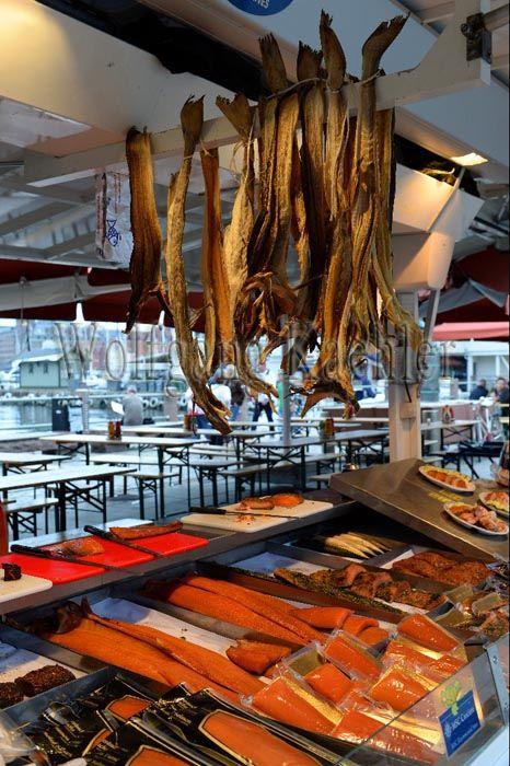 Fish market in Bergen, Norway