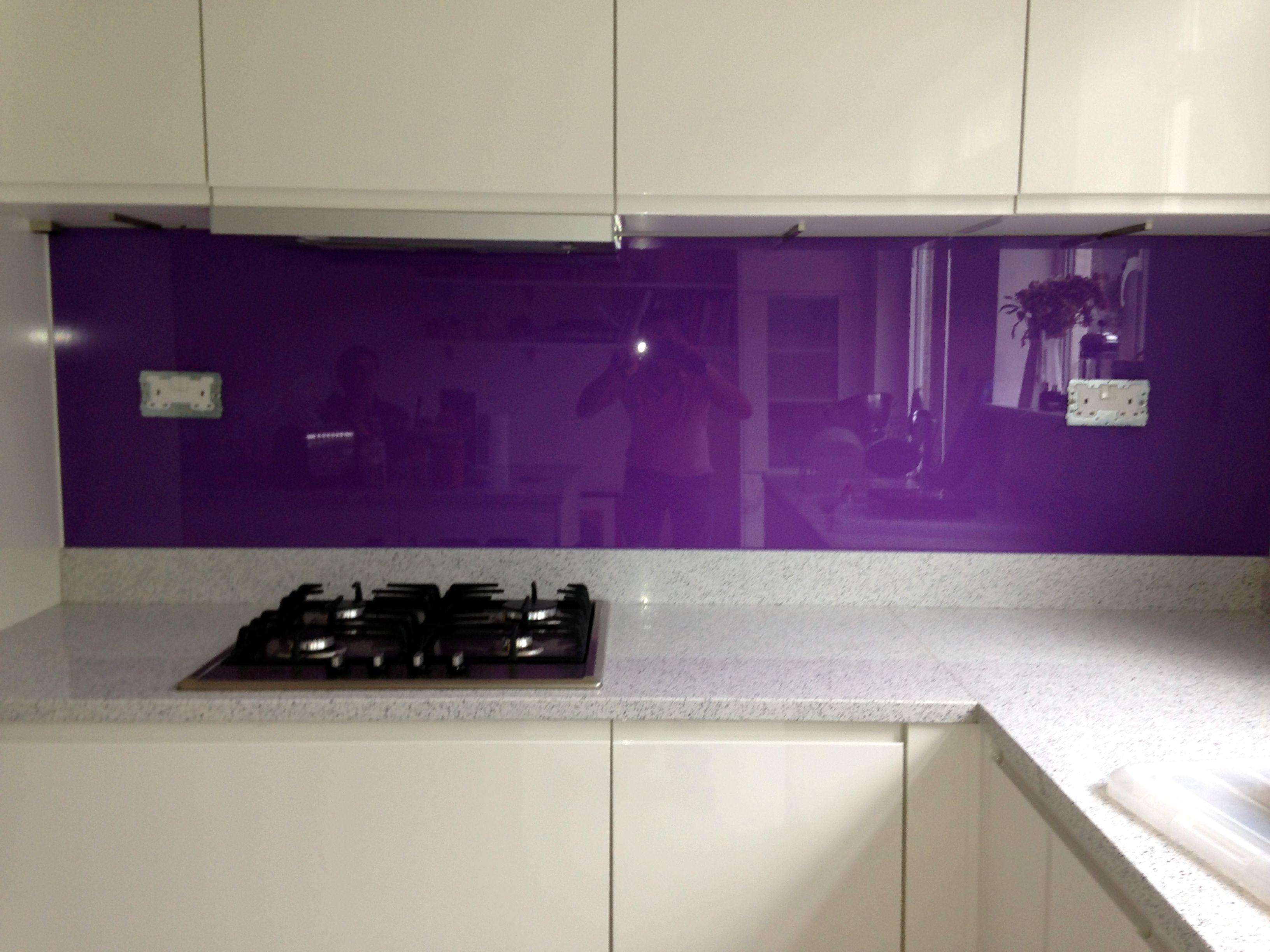 Image Result For Patterned Purple Glass Splashback Kitchen - Homey