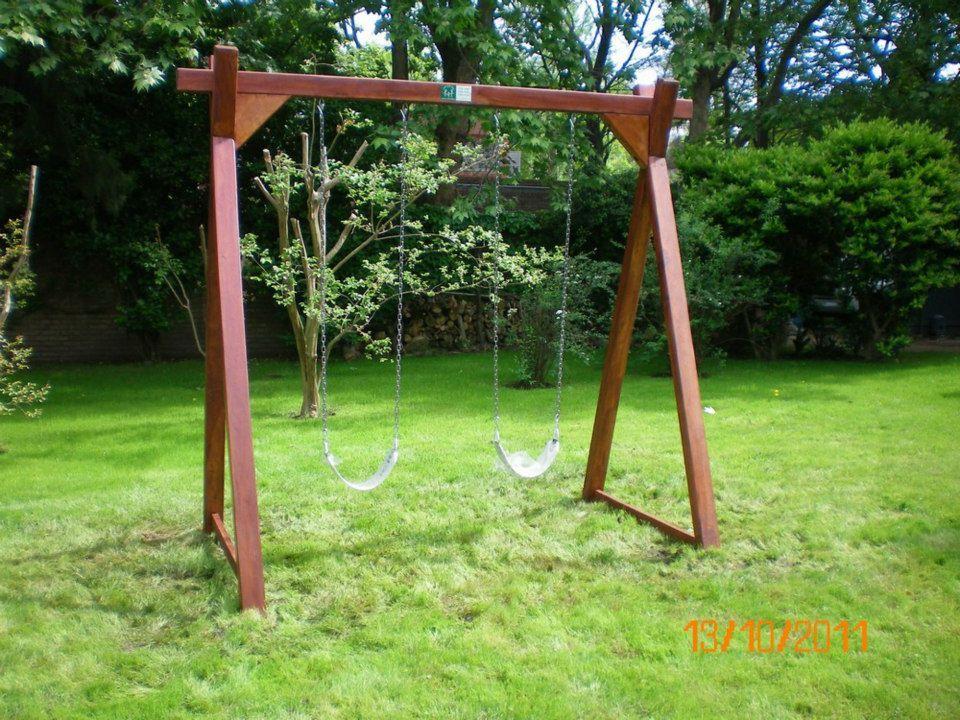 Juegos de madera para jardin columpio para dos juegos de madera pinterest for Juegos para jardin nios