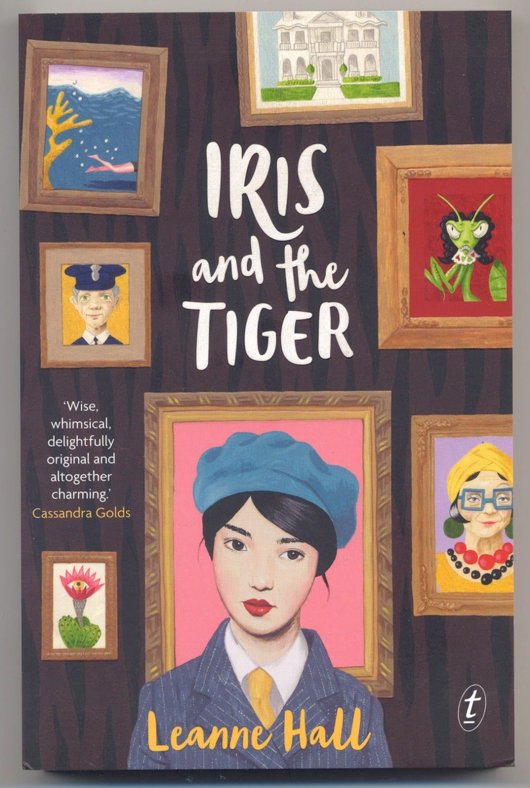 """""""Iris and the Tiger' by Leanne Hall.  Illustration by Sandra Eterovic.  Designer Imogen Stubbs.  Text Publishing."""