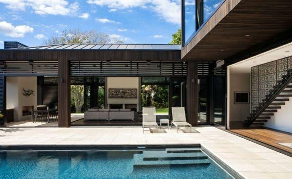 Modernes Haus mit nachhaltigem Design in Neuseeland ...