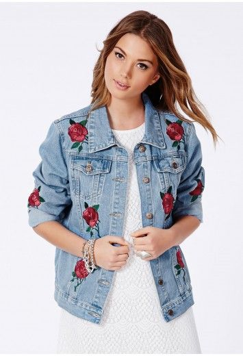 In 3 With This Caresa Rose Embroidered Denim Jacket From Missguided