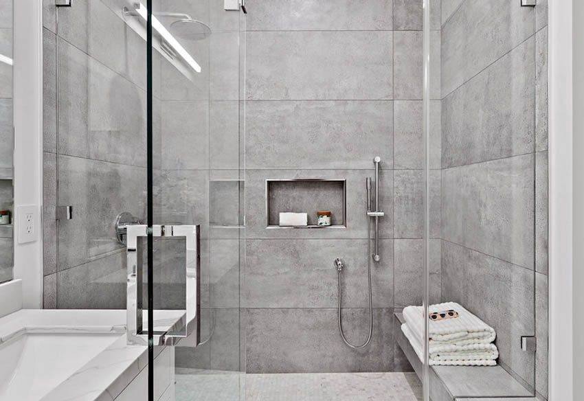 Shower Bench Ideas Built In Freestanding Designs Shower Bench Shower Tile Bathroom Design Inspiration