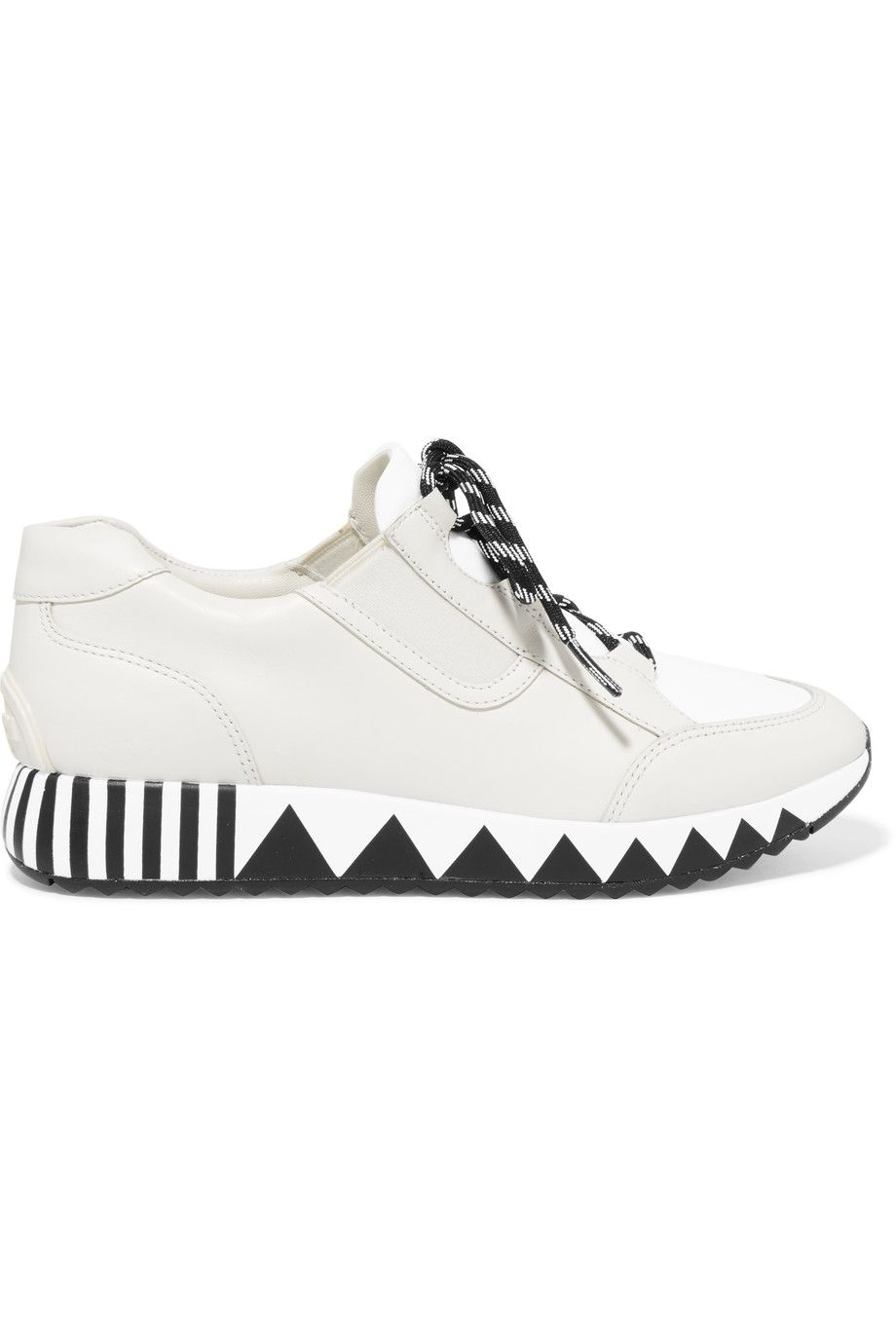 887eac803 TORY BURCH Jupiter leather and neoprene sneakers.  toryburch  shoes   sneakers