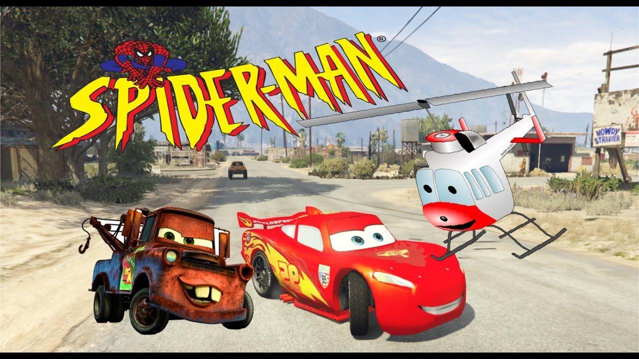 spiderman disney cars lightning mcqueen repair police sprinter