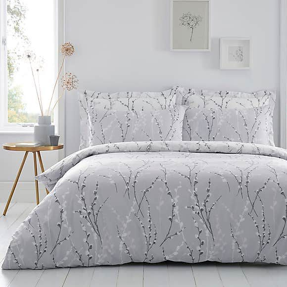 Belle Grey Reversible Duvet Cover And Pillowcase Set Blue Duvet Cover Gray Duvet Cover Grey Duvet
