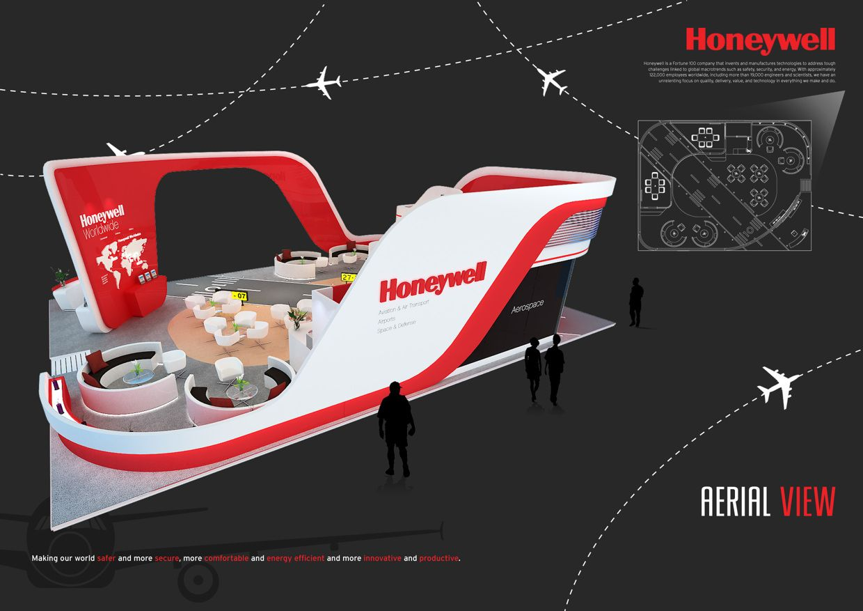 Exhibition Stand Design Singapore : Honeywell aerospace singapore airshow on behance