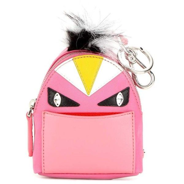 c98d398f2451 Fendi Bag Bugs Backpack Fur-Trimmed Charm ( 930) ❤ liked on Polyvore  featuring