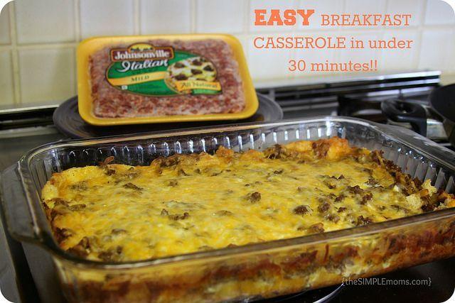 easy breakfast casserole in under 30 minutes #ad #meatballmasters