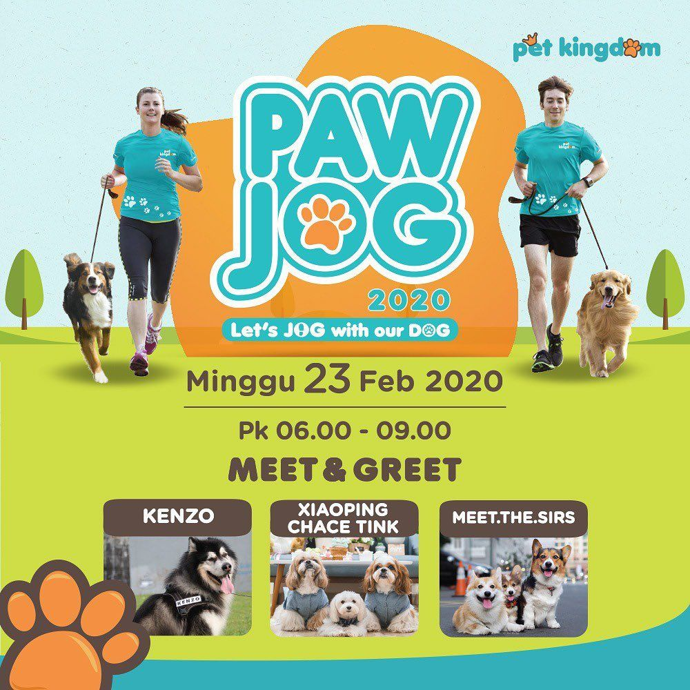 Dont forget our Paw Jog date this Sunday February 23rd at Pet Kingdom Alam Sutra