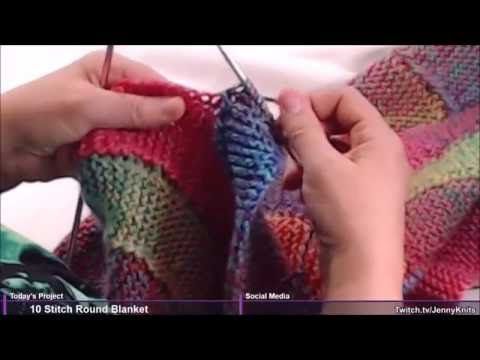 Rainbow Blanket, How to knit an afghan, DIY Throw, Free knitting ...