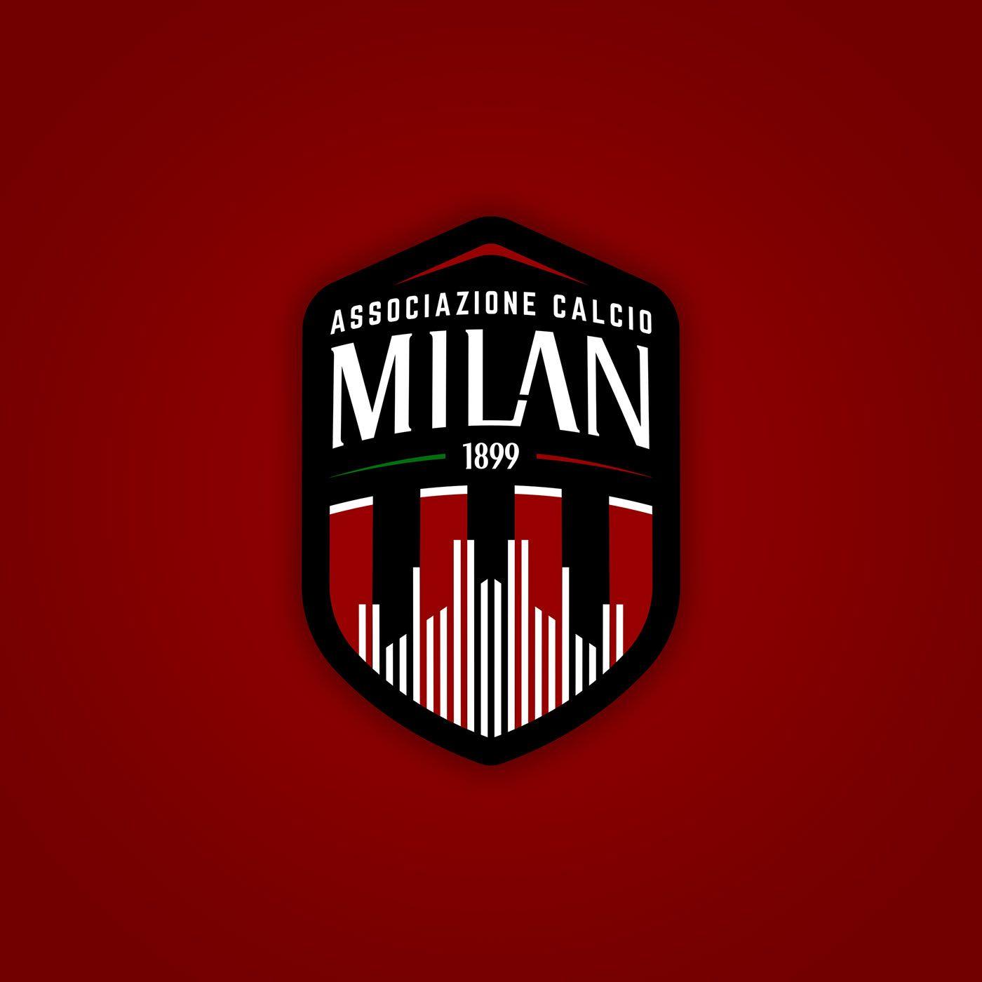 A C Milan Rebranded New Logo Jerseys On Behance Milan Wallpaper Milan Football Team Logos