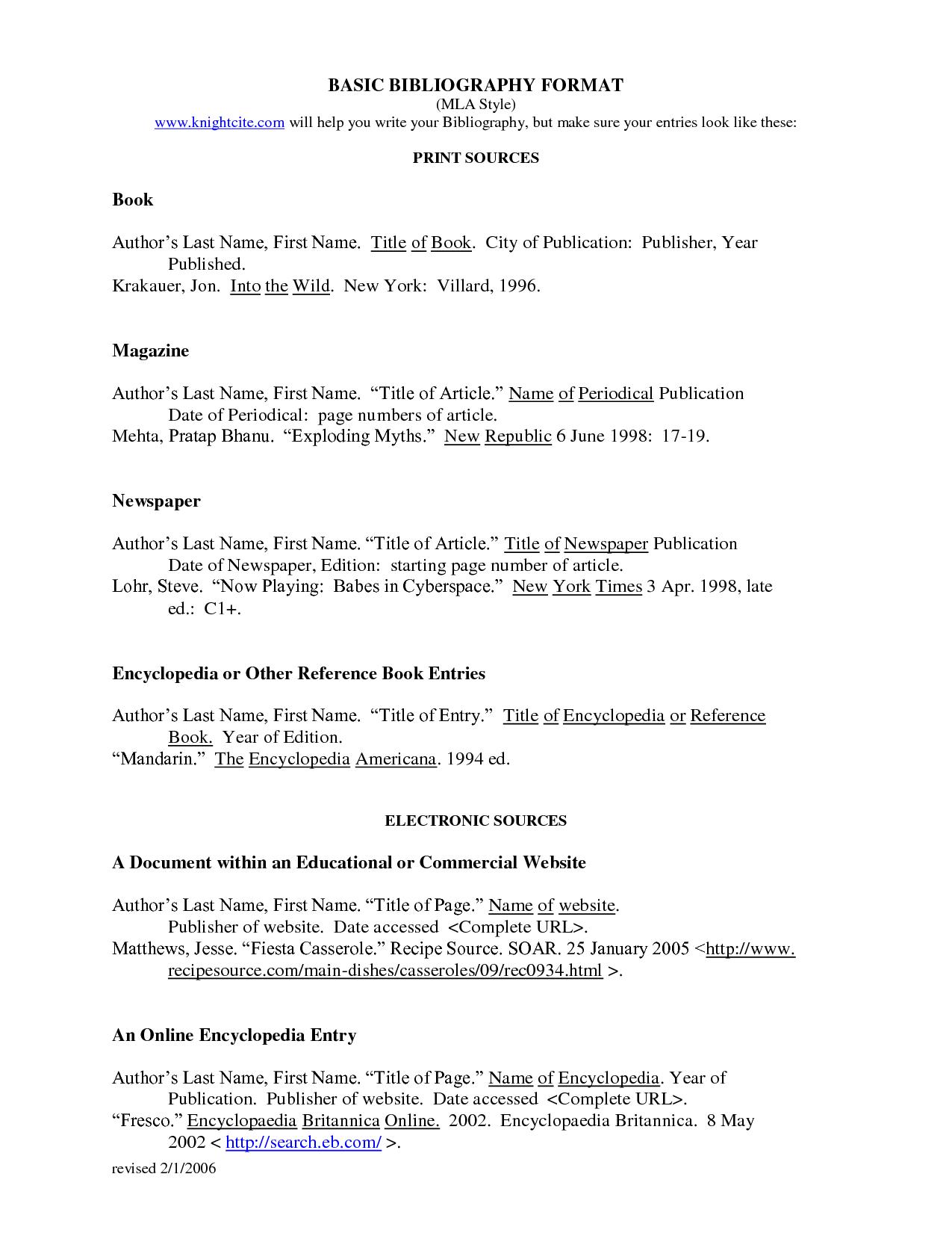 Bibliography MLA Format Works Cited  Essay tips, Works cited, Mla