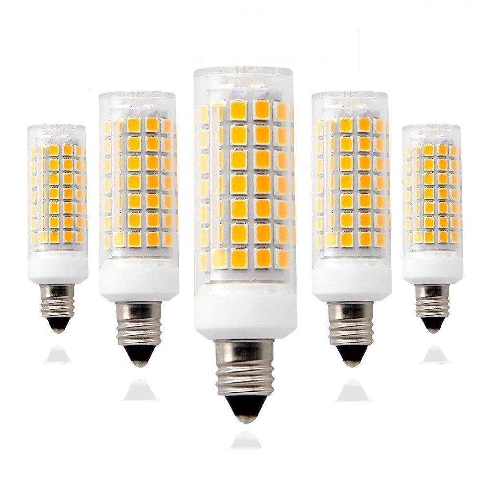 E11 Mini Candelabra Base Led Bulb 8w Warm White 1100lm E11mini Candelabra Base 110v 120v 130v Input 75w 100w Halogen Bulbs Replacem Led Bulb Halogen Bulbs Bulb