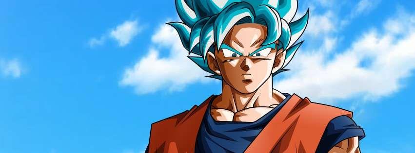 Anime Dragon Ball Super Ssgss Goku Blue Hair Facebook Cover Anime Dragon Ball Super Dragon Ball Anime Dragon Ball