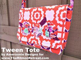 Ameroonie Designs: Tween Tote Tutorial