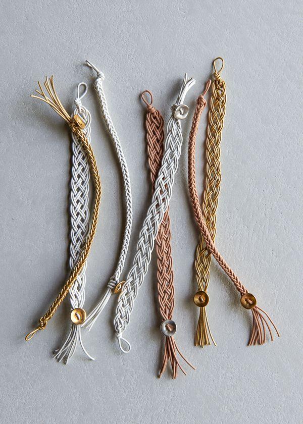 Braided Leather Bracelets Purl Soho Craft Pinterest
