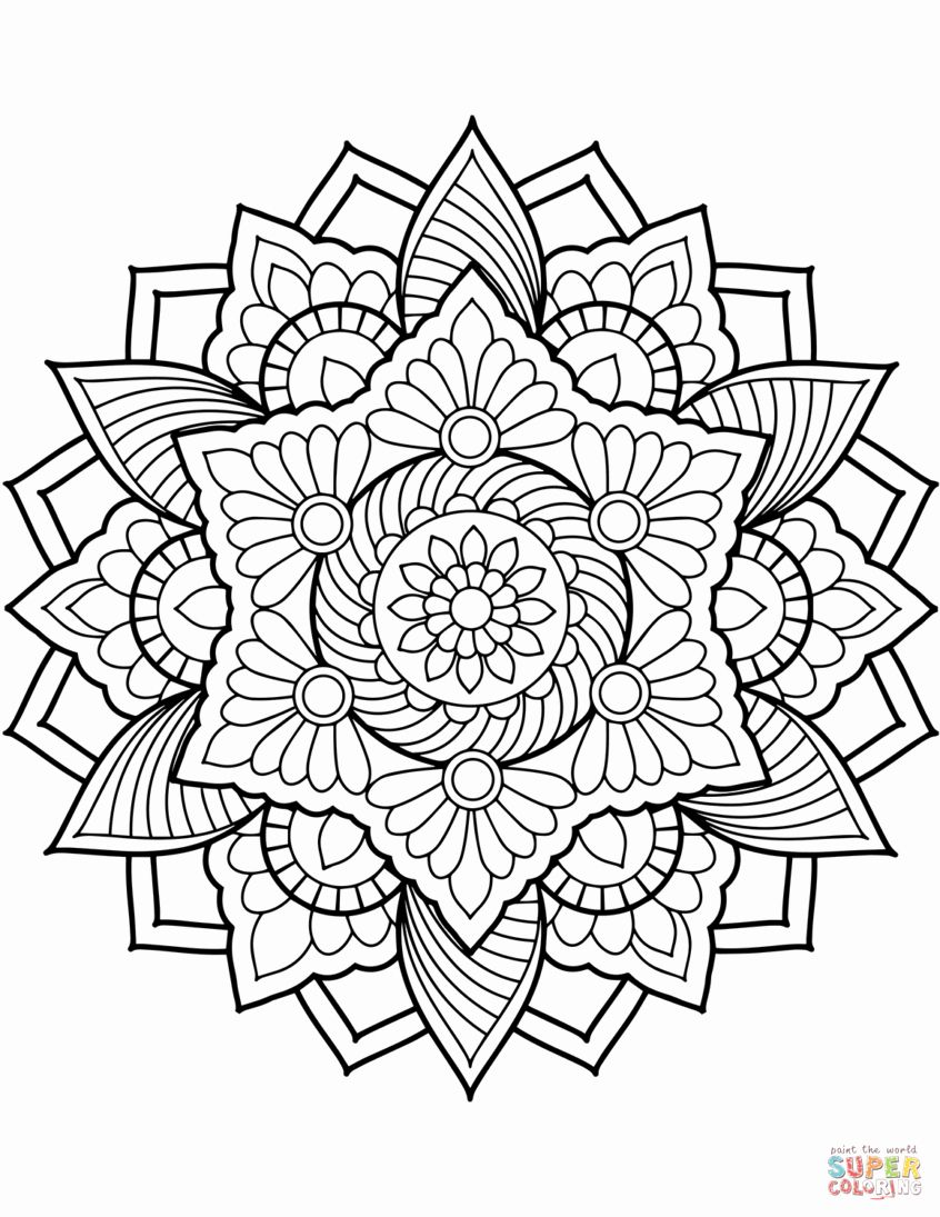 Coloring Book Flower Printable Beautiful Coloring Ideas Coloring Pages Ideas Flower Mandala Mandala Coloring Pages Printable Coloring Book Coloring Book Pages
