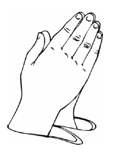 Pictures Of Praying Hands For Preschool Coloring Pages Of