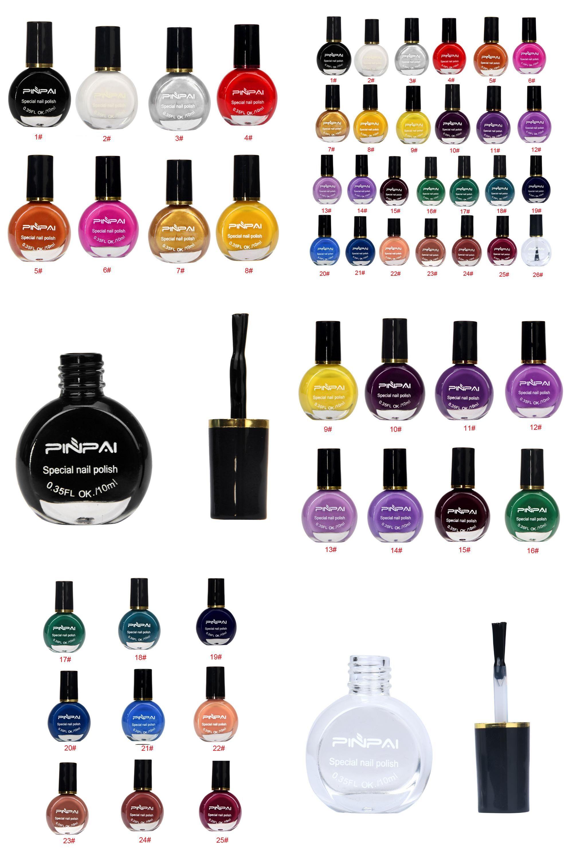 Visit to Buy] UV Nail Top1 Pcs 26 Color Nail Polish Printing Oil 26 ...