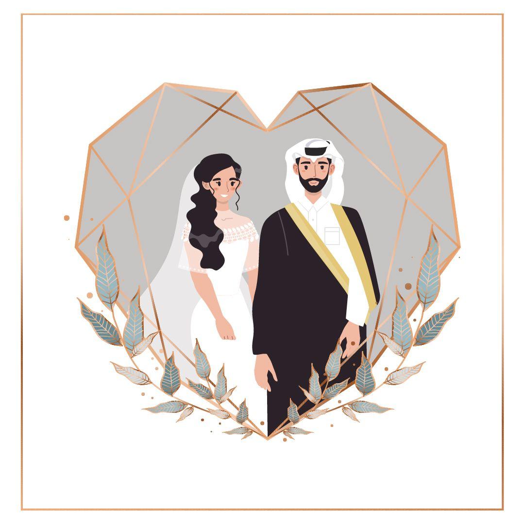 دعوة زفاف عروسين Cute Couple Wallpaper Wedding Couple Cartoon Flower Graphic Design
