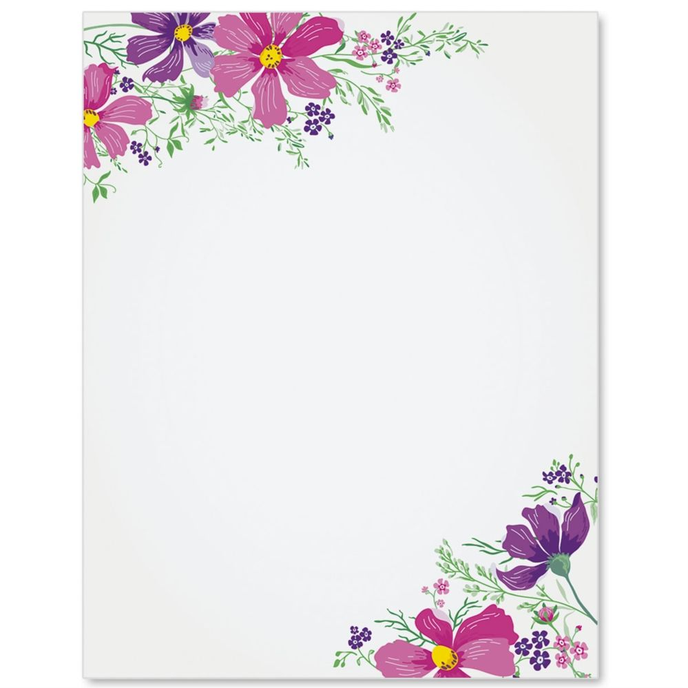 Colorful Cosmos Border Papers Paperdirect Borders For Paper