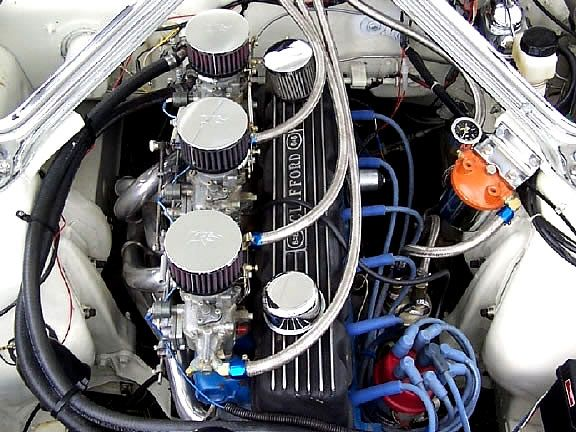 Ford 200 ci I-6 with tri-power | Engines | Motor works, Car
