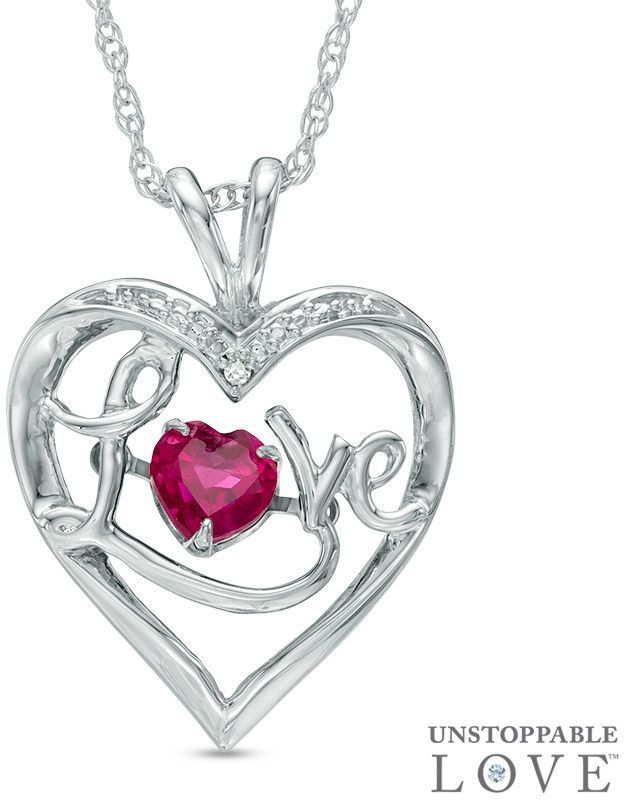 Zales 5.0mm Lab-Created Ruby and White Sapphire Heart Stud Earrings in Sterling Silver qGjNz1ifFU