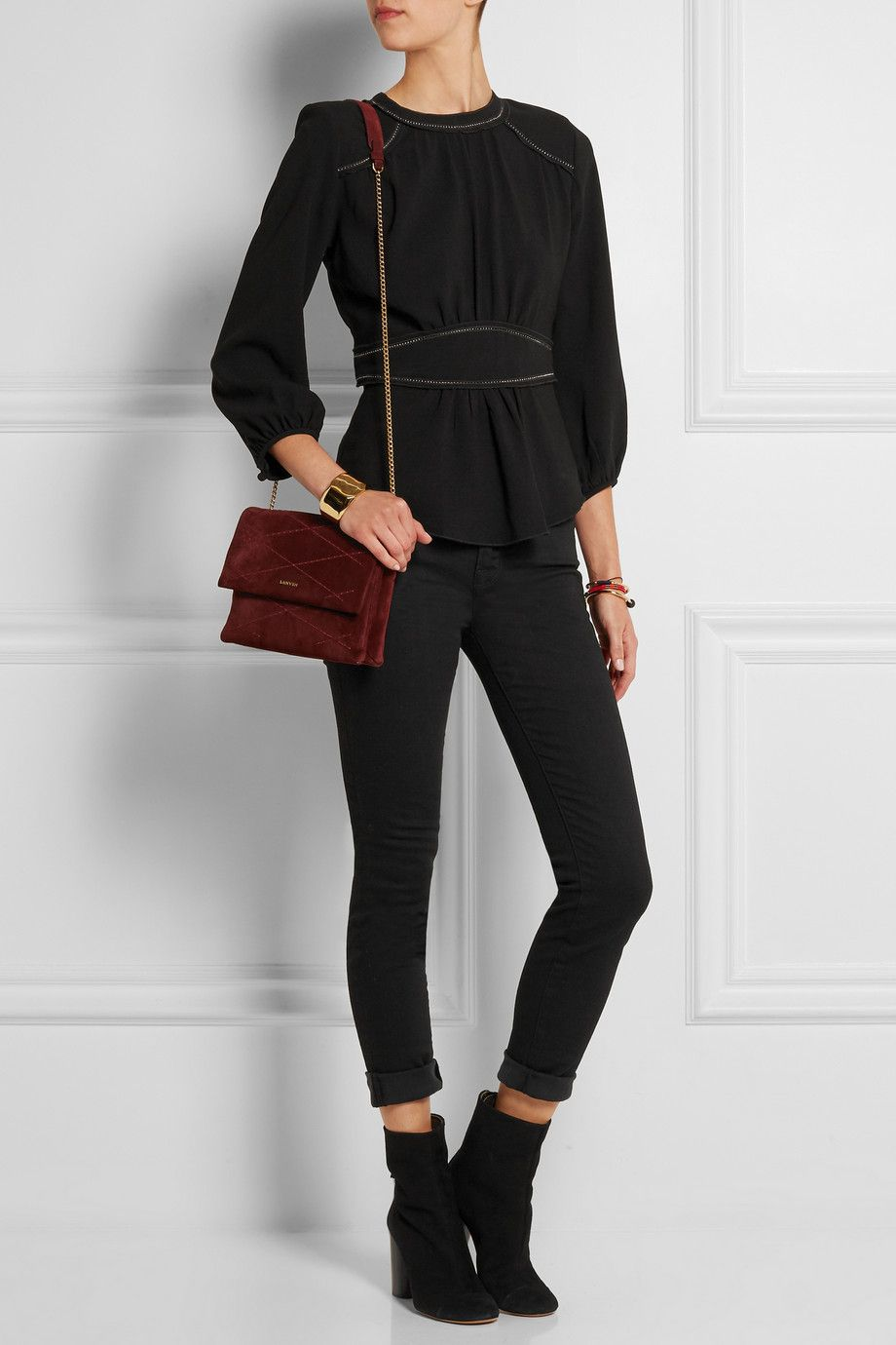 Isabel Marant | Wiley pointelle-detailed crepe top | NET-A-PORTER.COM