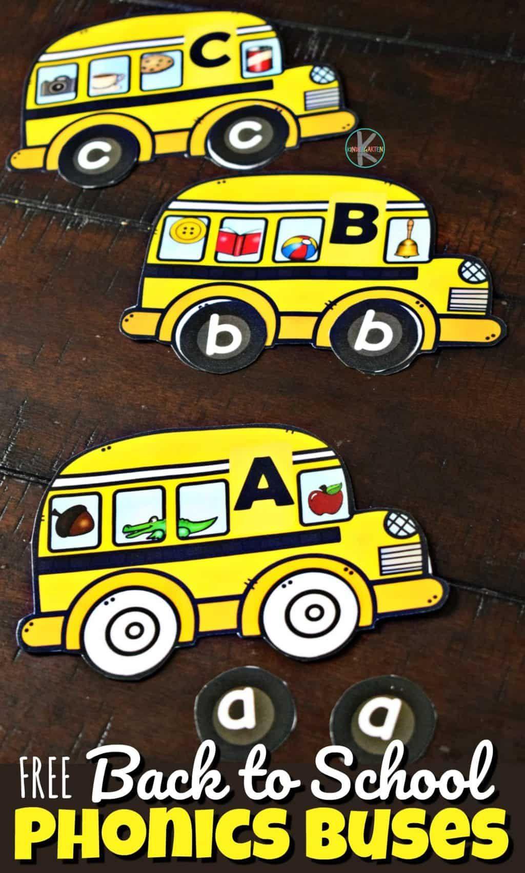 Back To School Phonics Buses