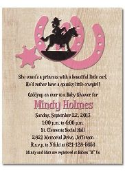 Baby Shower Western Themes Girl Cowgirl Baby Shower Invitations