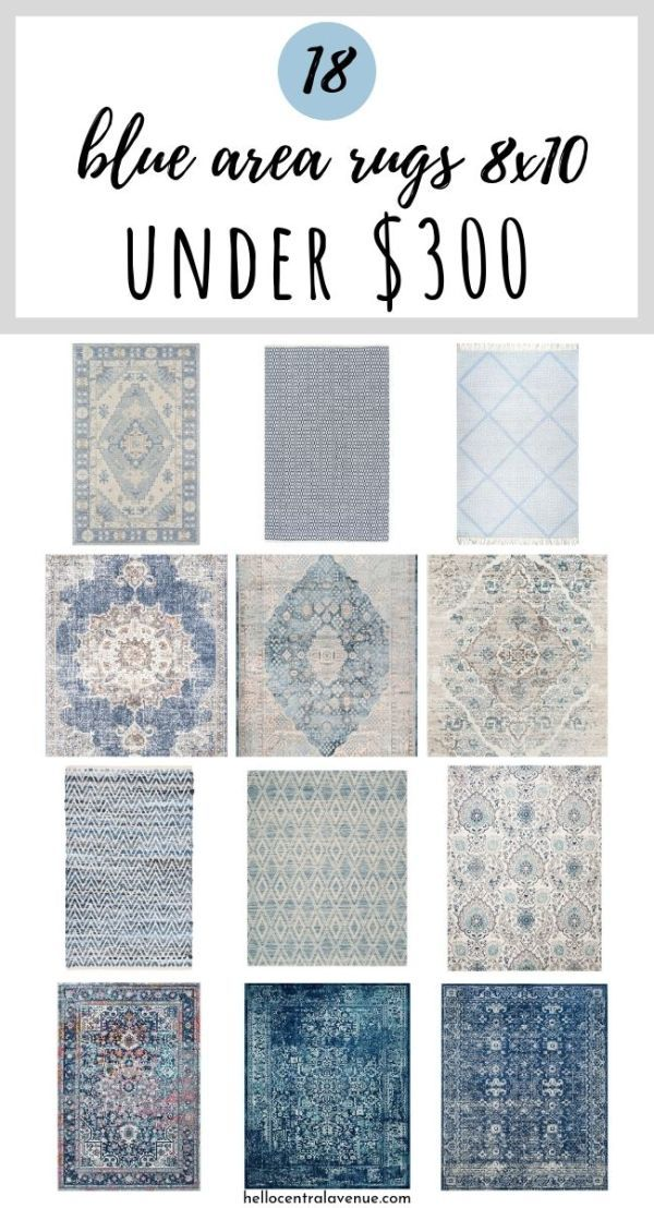 Blue Area Rugs 8x10 for Under $300