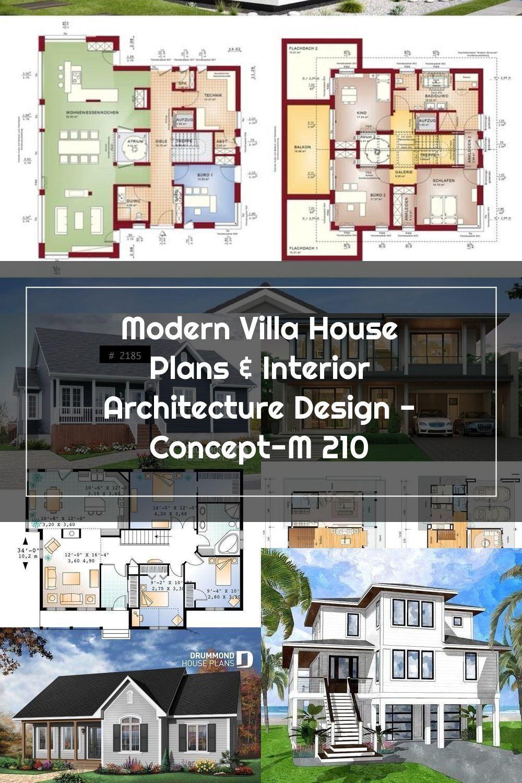 Modern Villa House Plans Interior Architecture Design Concept M 210 Interi In 2020 Small House Elevation Design Architecture Design Concept Architecture Design