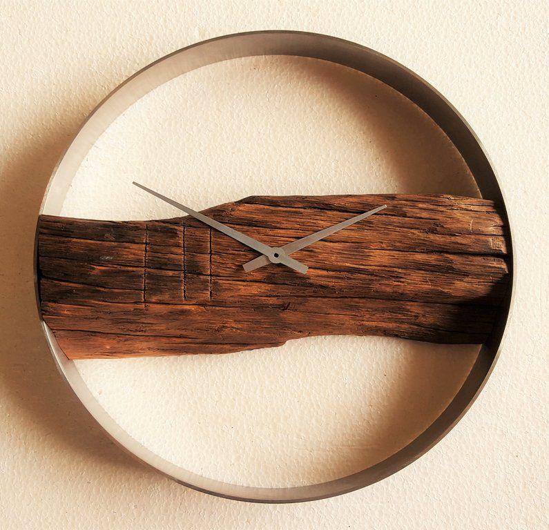 eichenholz wanduhr ideen f r hauseinrichtung pinterest wanduhren uhren und moderne uhr. Black Bedroom Furniture Sets. Home Design Ideas