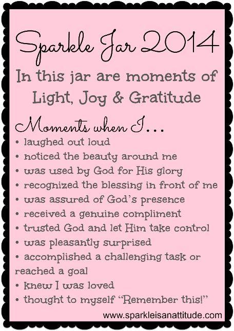 Sparkle Is An Attitude Blessings Jar Gratitude Jar Happy Jar
