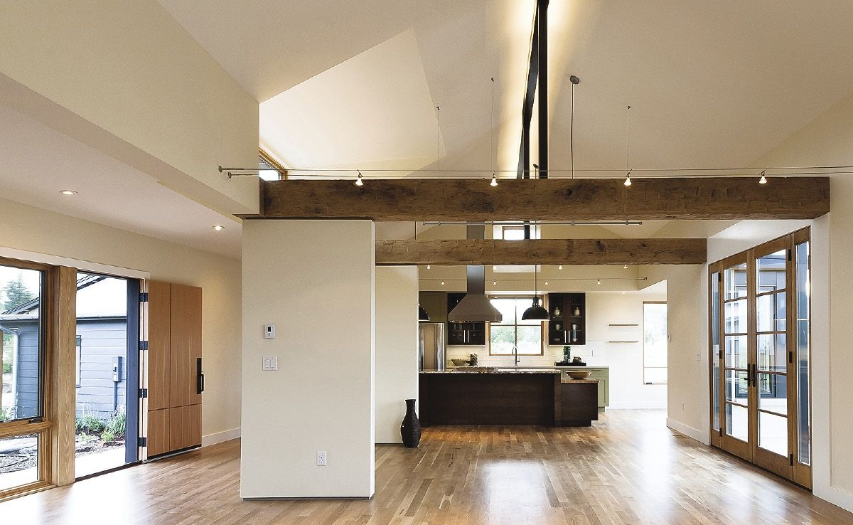 Cathedral ceiling | Modern farmhouse kitchens, Fresh house ...