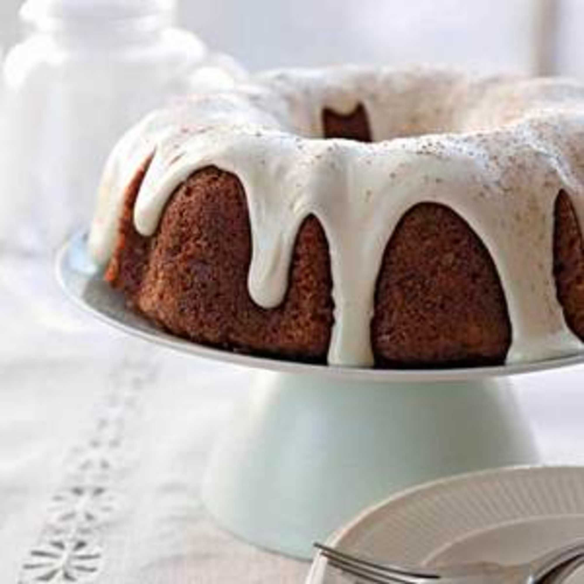 Carrot Pineapple Bundt Cake With Sour Cream Frosting Recipe Sour Cream Cake Sour Cream Frosting Dessert Recipes