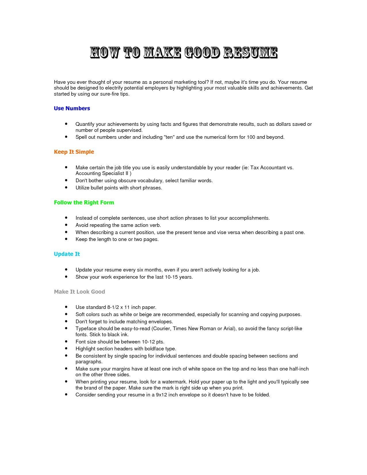20 Best What Makes A Good Resume (With images) Resume
