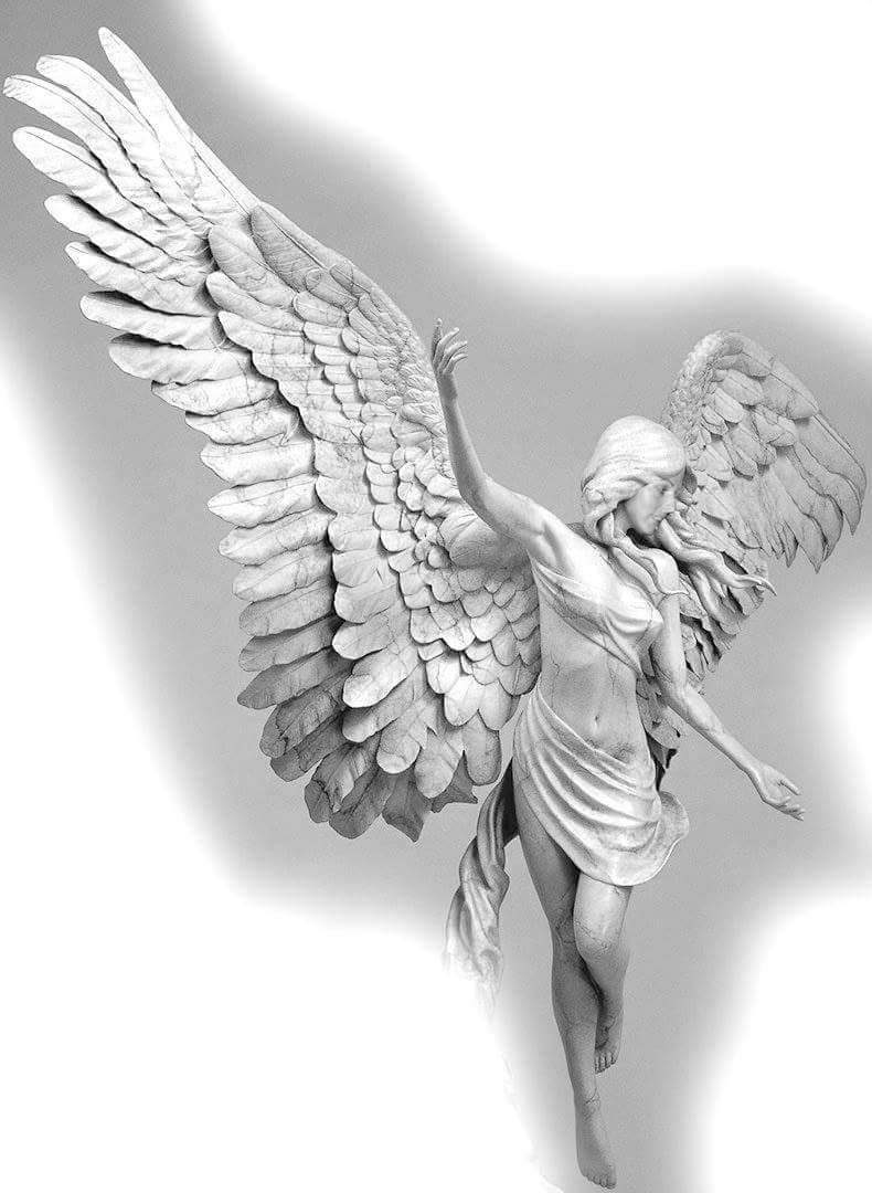 Dessin Ange Realiste dancing angel   statue tattoo, sculpture art, angel sculpture