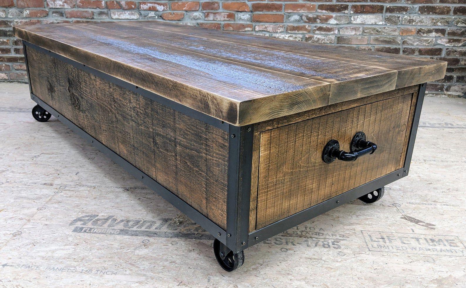 Rustic Industrial Barn Wood Board Coffee Table Extra Long In 2021 Coffee Table Farmhouse Diy Farmhouse Coffee Table Rustic Industrial [ 981 x 1588 Pixel ]