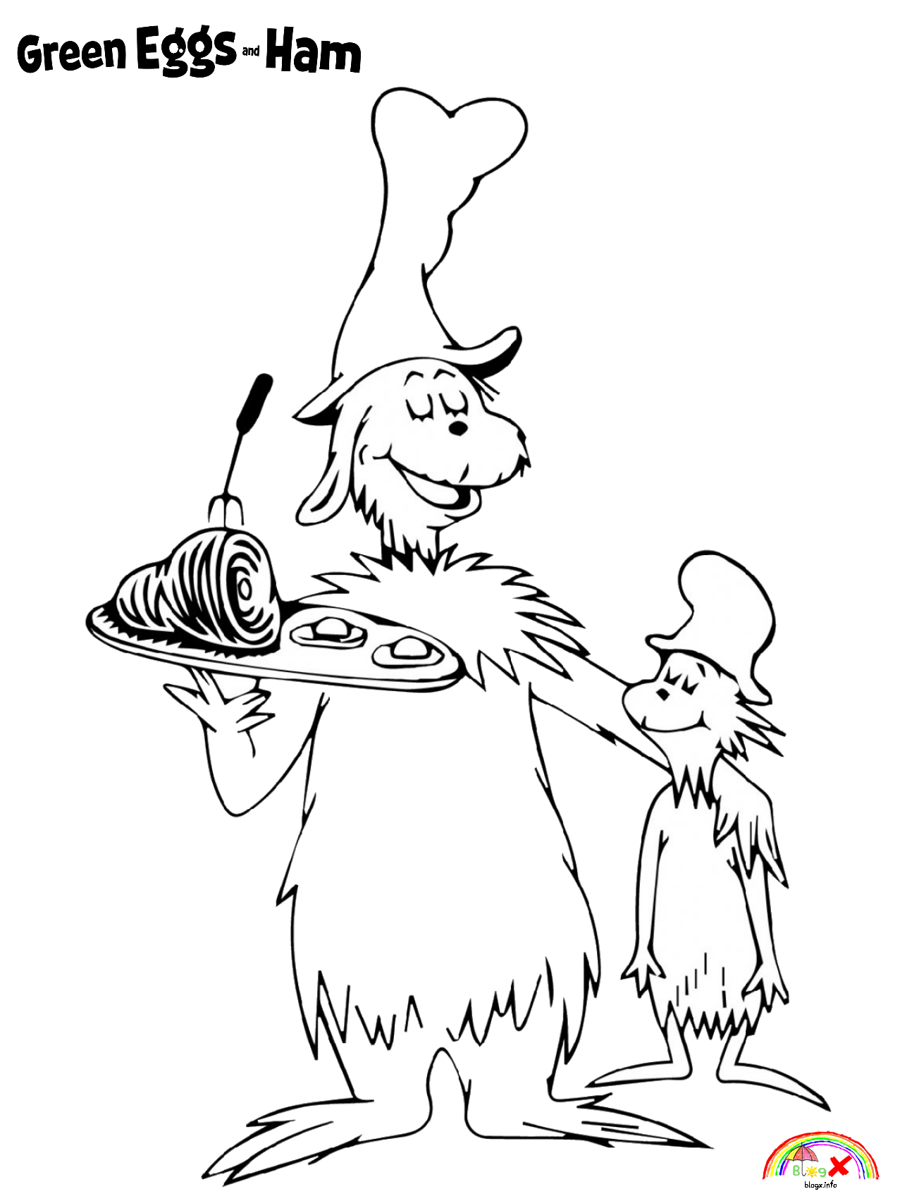 Dr Seuss Green Eggs And Ham Free Coloring Pages In 2020 Dr Seuss Coloring Pages