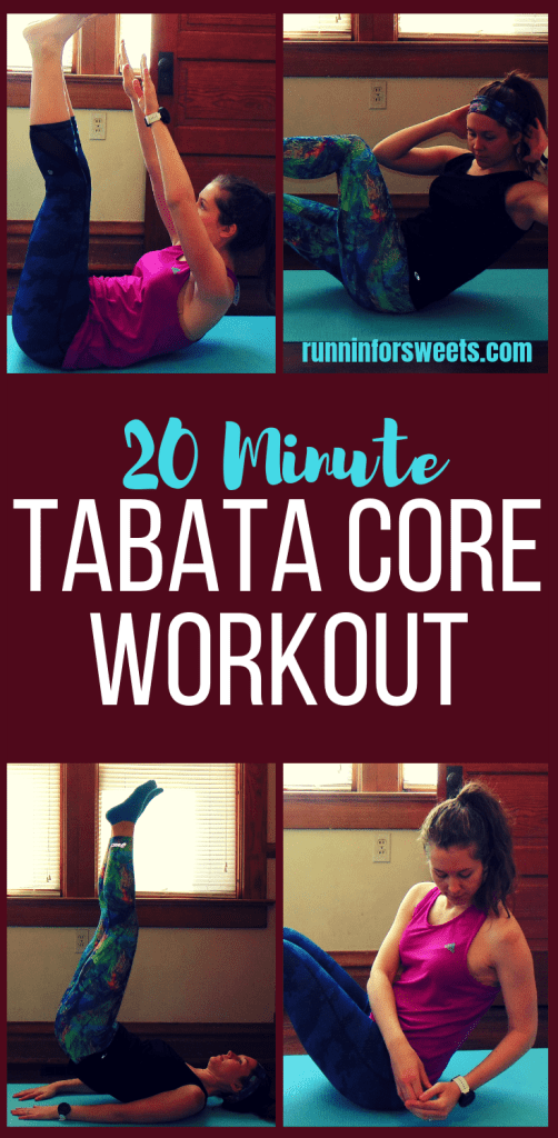 20 Minute Bodyweight Tabata Core Workout #coreworkouts